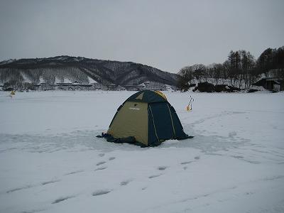 ワカサギ釣り用テント