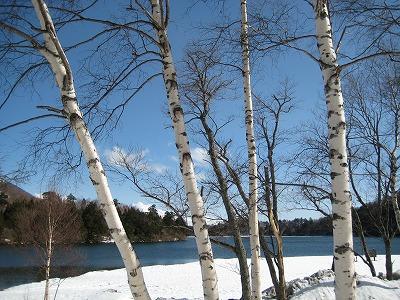 雪の湯の湖