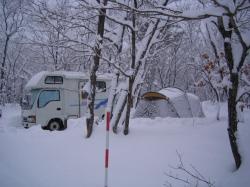 レジーナの森 雪中キャンプ