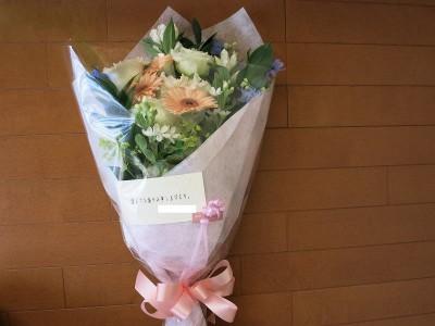 動物病院から届いた花束