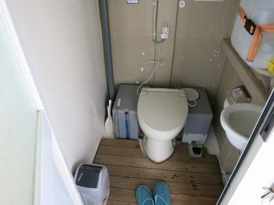 ドーム船のトイレ