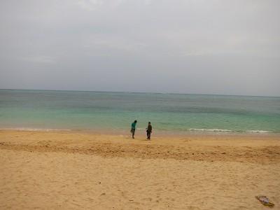 谷茶ベイのビーチ