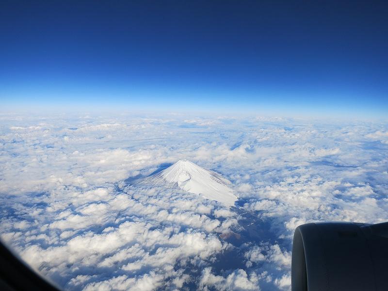Jetstarで見た富士山
