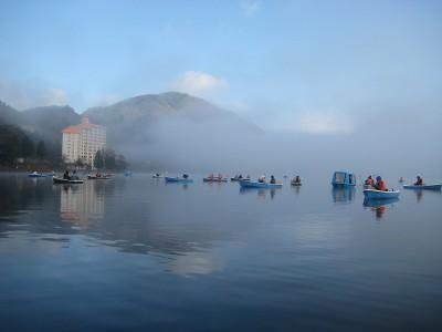 榛名湖 ワカサギボート釣り