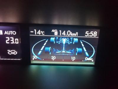 氷点下14度