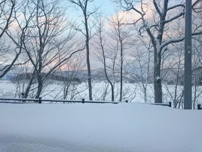 冬の桧原湖は綺麗