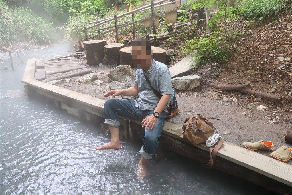 大湯沼川天然足湯