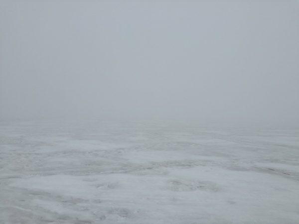 濃霧の桧原湖