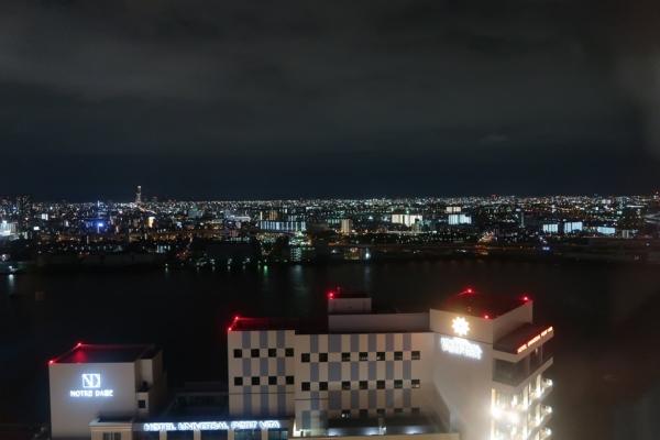 ユニバーサル・タワーからの夜景