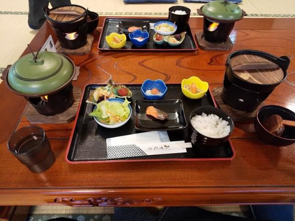 裏磐梯温泉センターの朝食
